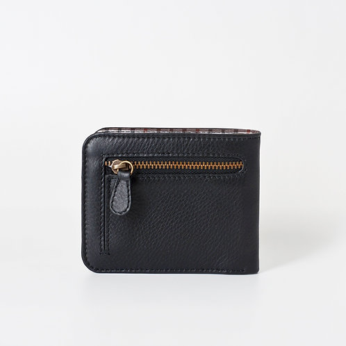 Männerportmonnaie mit Reissverschluss black von LOST&FOUND