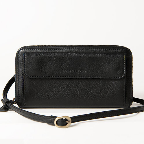 Crossbody Wallet black     LOST&FOUND