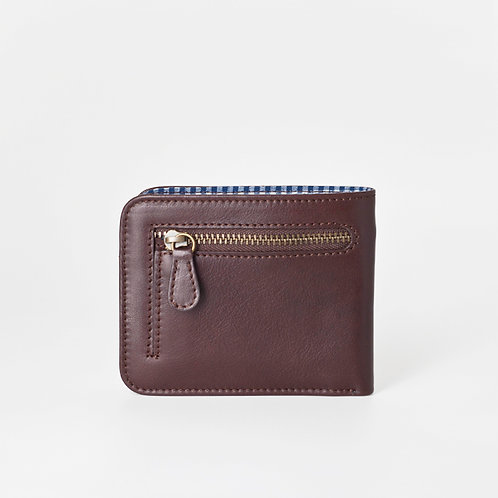 Men Wallet with Zip chocolate    LOST&FOUND