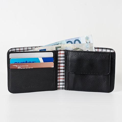 Männerportemonnaie mit Kleingeldfach black von LOST&FOUND