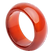 Schmuck-Krone - Edelsteinschmuck  Breiter Ring aus Karneol glatt rot-orange schlicht Fingerring Fingerschmuck