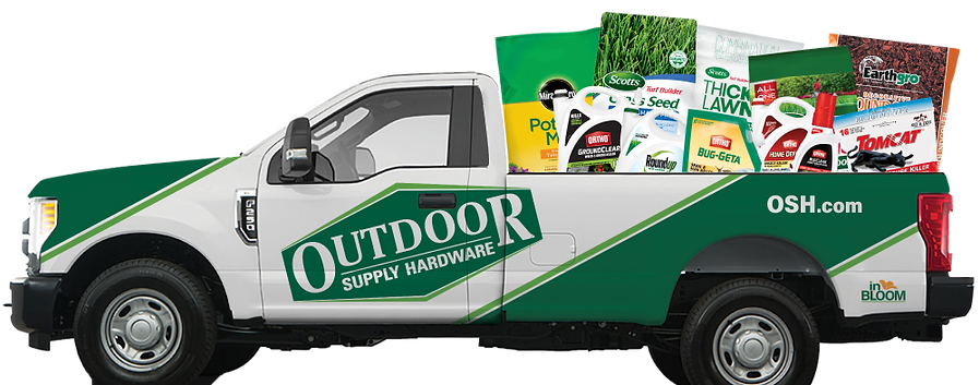 Outdoor Supply truck with ScottsMiracle-Gro product filling the bed