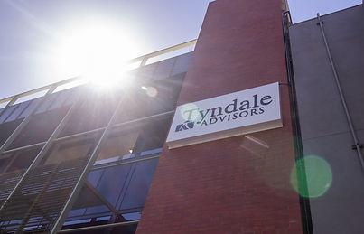 Tyndale Advisors sign on building