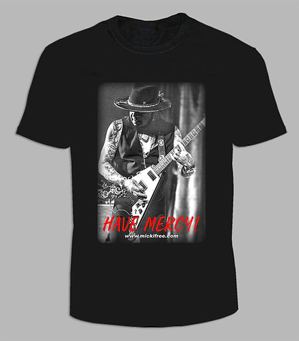 NEW Guitar Playing Micki Free Have Mercy Black Short Sleeve T-Shirt