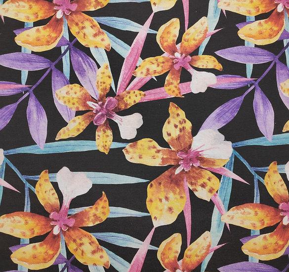 Coton canvas Ibiscus