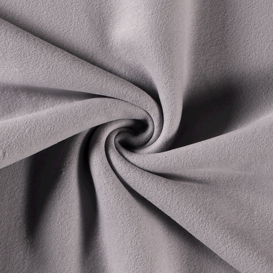 Polaire coton gris