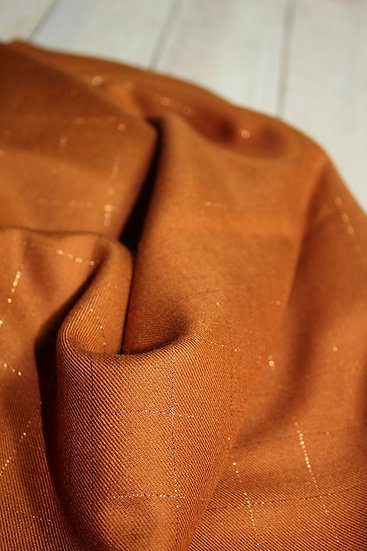 Viscose Carreaux Caramel