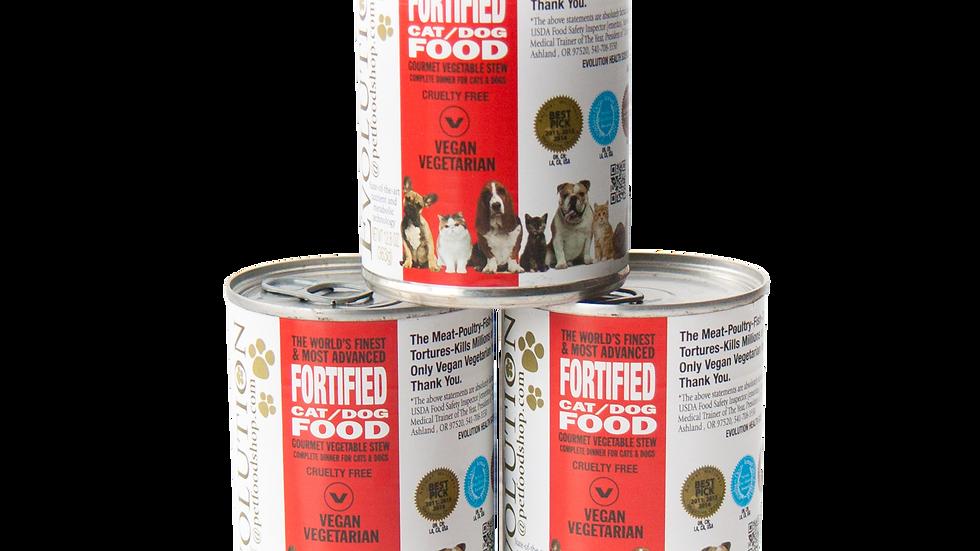 Nourriture humide enrichie gastronomique pour chats et chiens