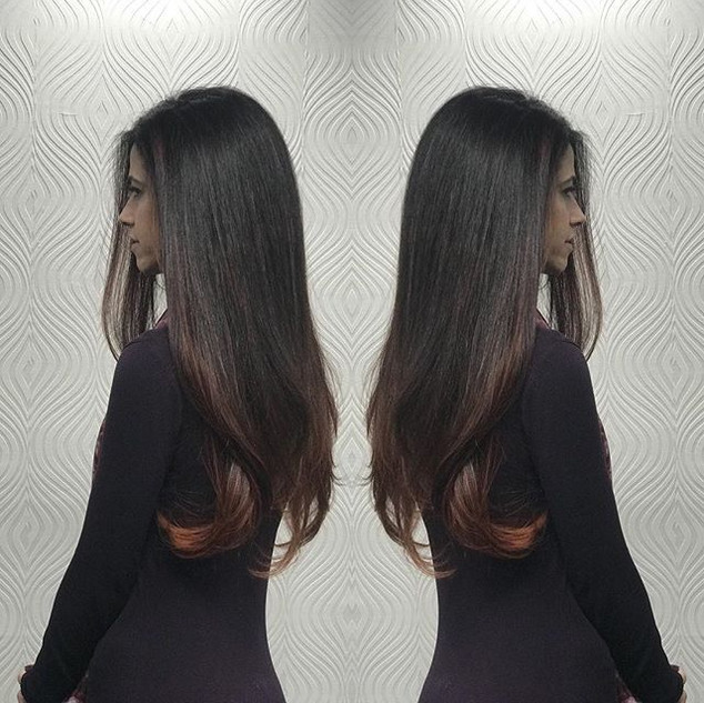 #winter #balayage #brunette  #hair #colo