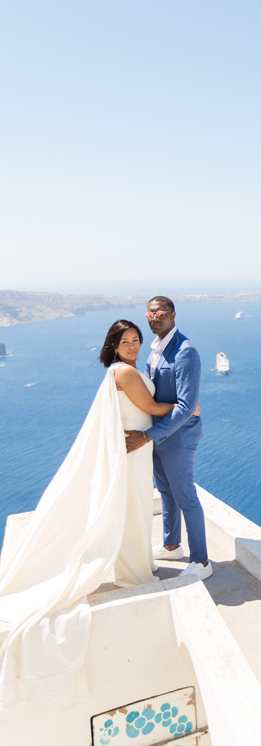 Custom Bridal Jumpsuit in Greece
