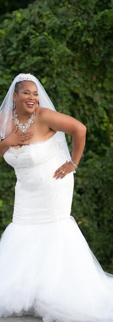 Custom Mermaid Gown for Curvy Bride