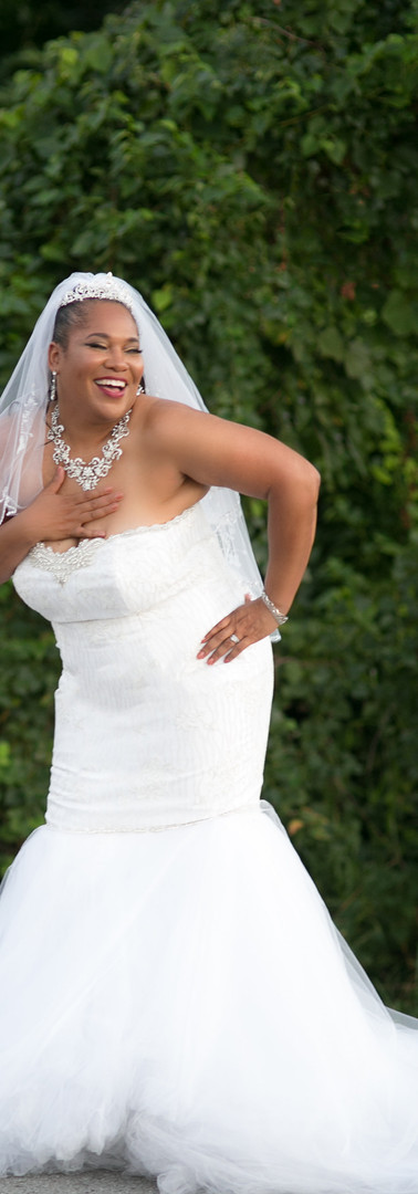 Custom Mermaid Gown for Curvy Bride