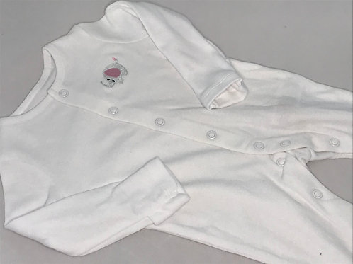 Pink Elephant Sleepsuit