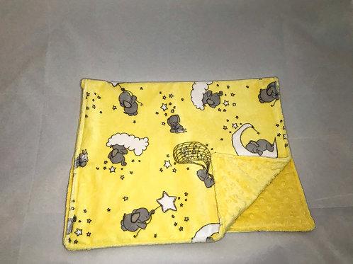 Lemon Elephants Pram Blanket