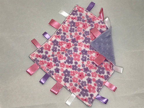 Mauve Ditsy Flowers Taggy Comforter