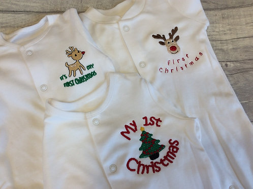 First Christmas Sleepsuits