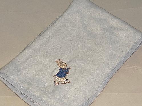 Peter Rabbit (running) Fleece Blanket