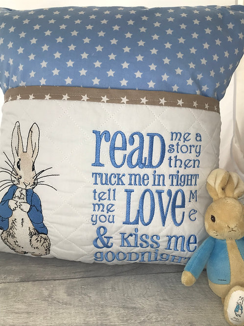 Peter Rabbit Pocket Cushion