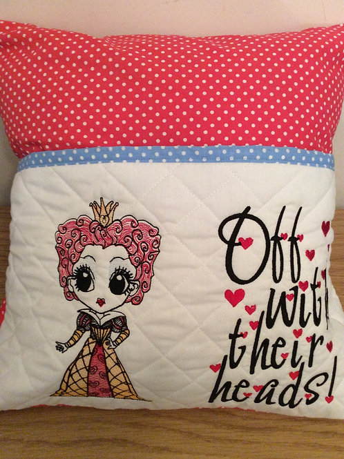 Red Queen Book Pocket Cushion