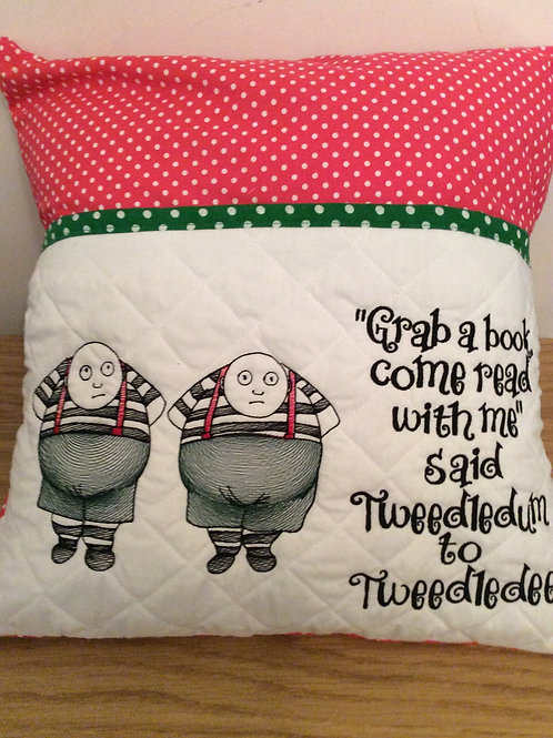 Tweedledum and Tweedledee Book Pocket Cushion