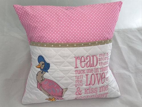 Jemimah Puddleduck Pocket Cushion