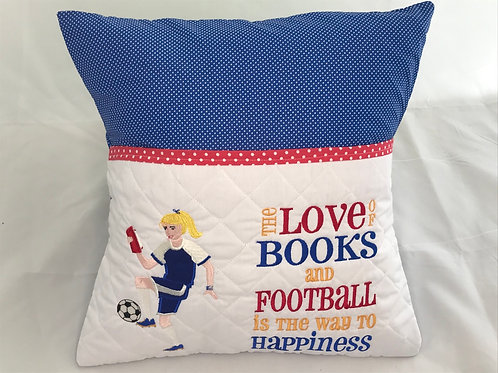 Football Girl Pocket Cushion