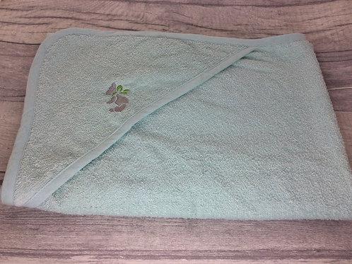 Mint Green Teddy Hooded Towel