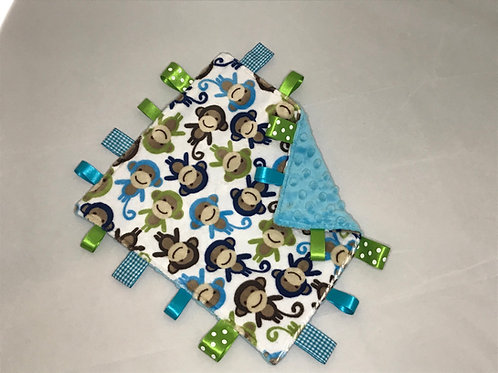 Blue Monkey Taggy Comforter