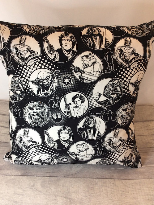 Black/White Star Wars Cushion