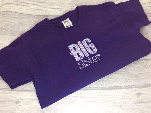 Big Sister T-Shirt Purple