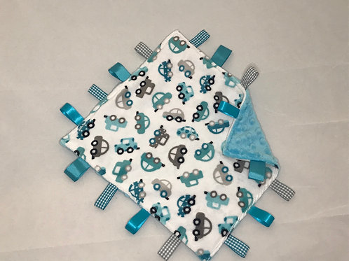 Turquoise  Cars Taggy Comforter