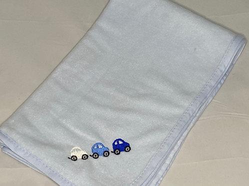 Blue Cars Fleece Blanket