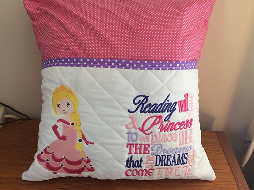 Pink Princess Pocket  Cushion