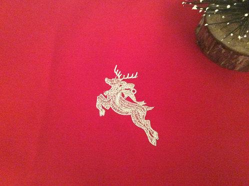 Silver Reindeer Christmas Table Runner