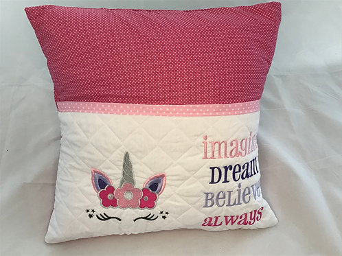 Unicorn Head Pocket Cushion