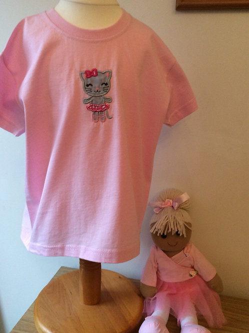 Ballet Puss Applique T-Shirt