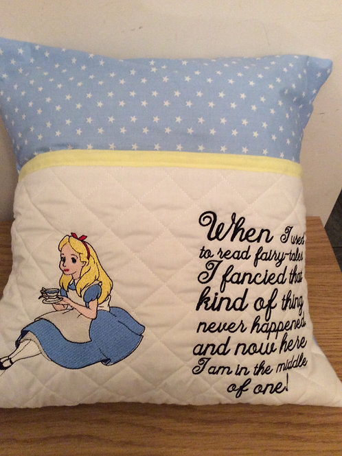 Alice Book Pocket Cushion