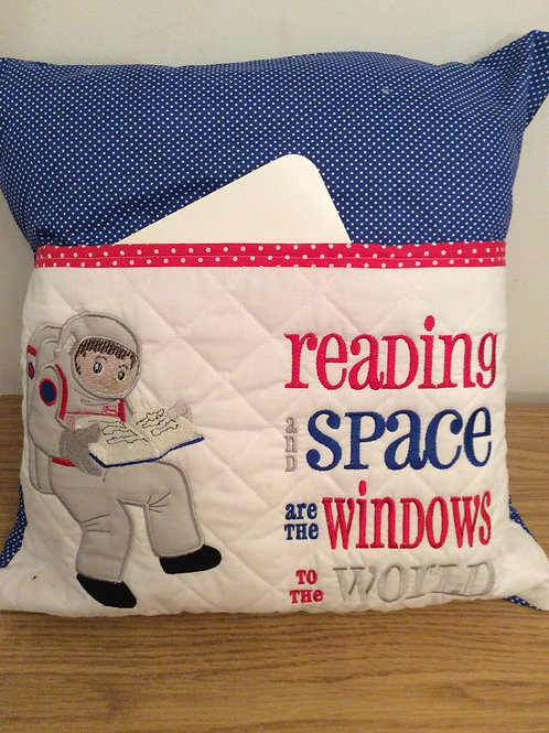 Spaceman Pocket Cushion
