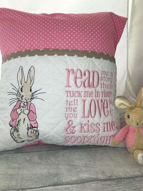 Flopsy Rabbit Book Pocket Cushion