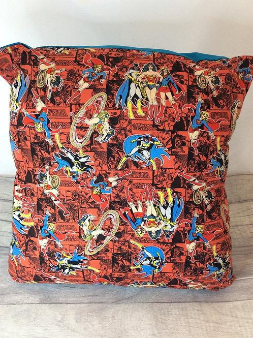 Red Superhero  Girls Cushion