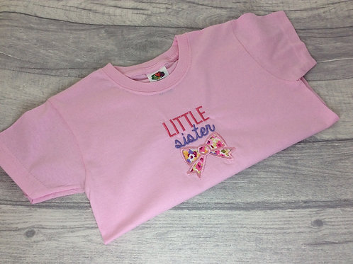 Little Sister T-Shirt Pale Pink