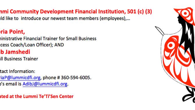 New Lummi CDFI Team Members