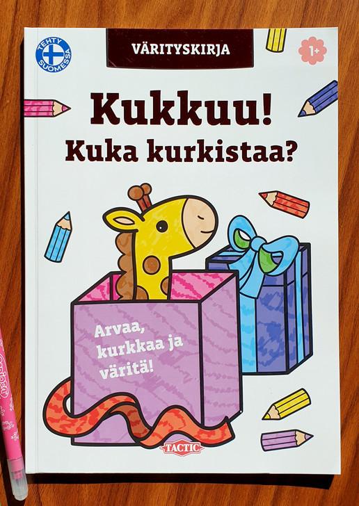 Kukkuu! Kuka kurkistaa? Coloring book, Tactic Publishing, 2019