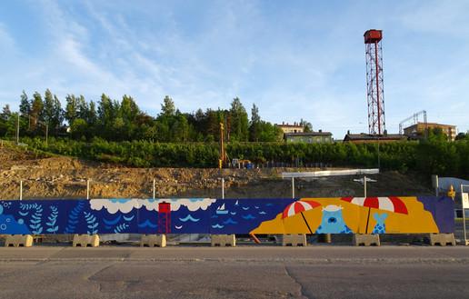 Mural for Uusi Santalahti - Pisparannan kortteli