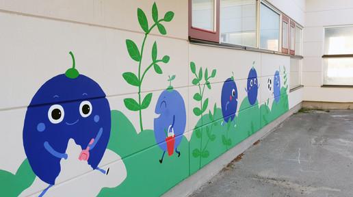 Palosaari playschool murals, City of Vaasa, 2019.