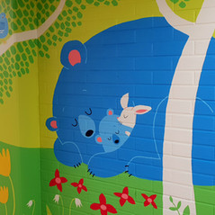 Mural for Vaasa hospital's Child psychiatry outpatient clinic, 2018