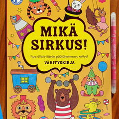 Mikä sirkus! Coloring book, Tactic Publishing, 2019