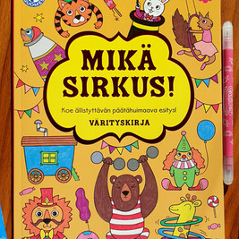 Mikä sirkus! Coloring book, Tactic Publishing, 2019
