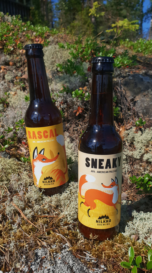 Illustrations for beer bottle labels, Nillko Brewing, 2018