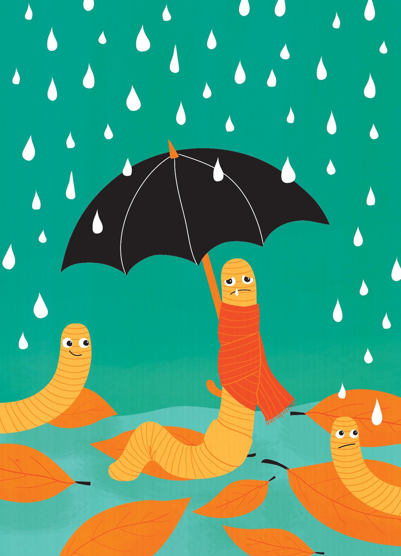 Happy rainy days! Greeting cards, Karto, 2014
